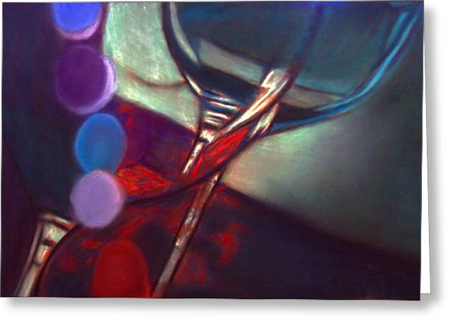 Half Price Wine Night Greeting Card by D Rogale