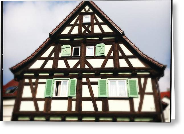 Half-timbered House 01 Greeting Card