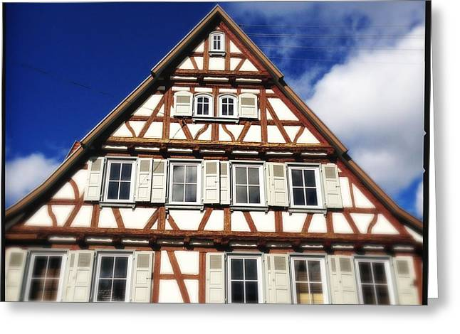 Half-timbered House 03 Greeting Card