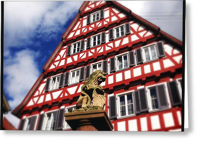 Half-timbered House 07 Greeting Card