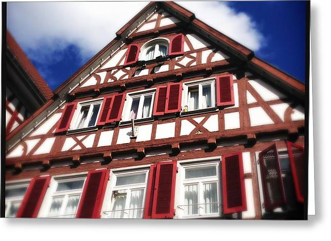 Half-timbered House 09 Greeting Card