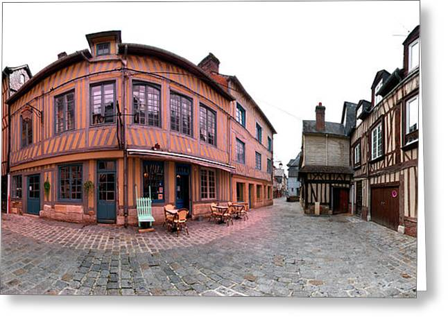 Half-timbered Houses, Pont-audemer Greeting Card