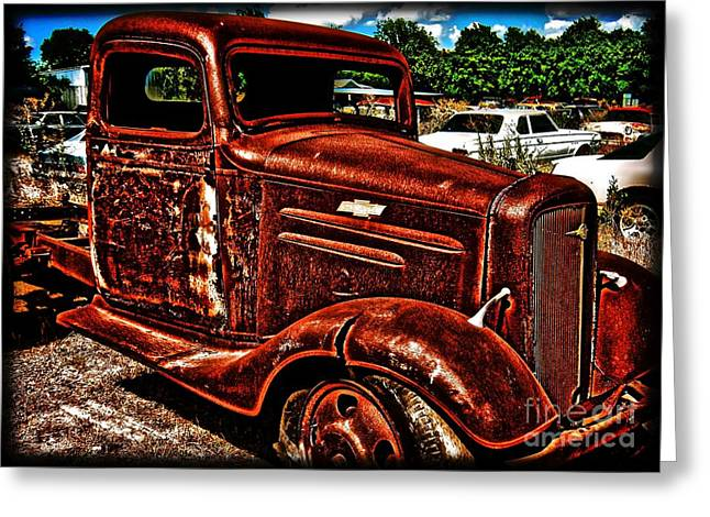 Half Ton Chevy - No.0243h Greeting Card by Joe Finney