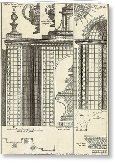 Half Trellis Pavilion With Details, Cornelis Danckerts II Greeting Card