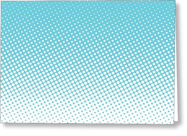 Halftone Background, Pop Art Design Greeting Card