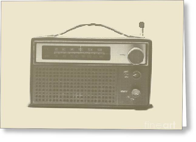 Halftone Transistor Radio Greeting Card