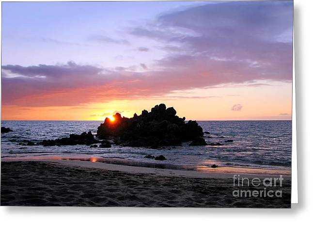 Greeting Card featuring the photograph Hali A Aloha by Ellen Cotton