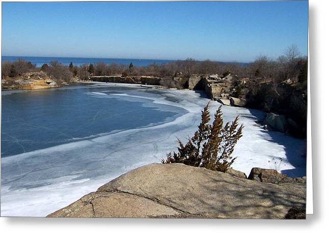 Icy Quarry Greeting Card by Catherine Gagne