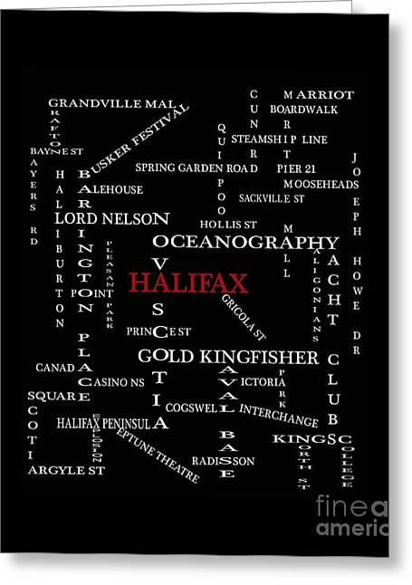 Halifax Nova Scotia Landmarks And Streets Greeting Card