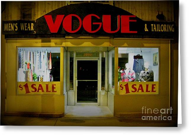Halifax Vogue Greeting Card by John Malone