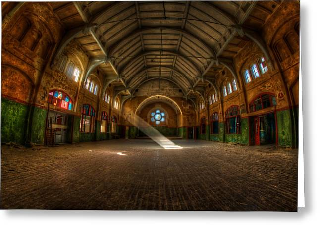 Hall Beam Greeting Card by Nathan Wright