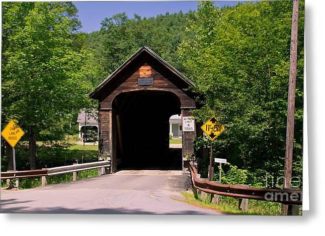 Hall Covered Bridge. Greeting Card