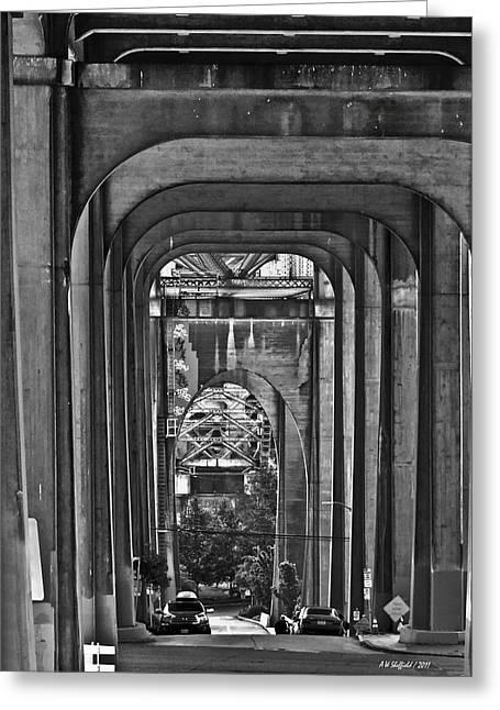 Hall Of Giants - Beneath The Aurora Bridge Greeting Card