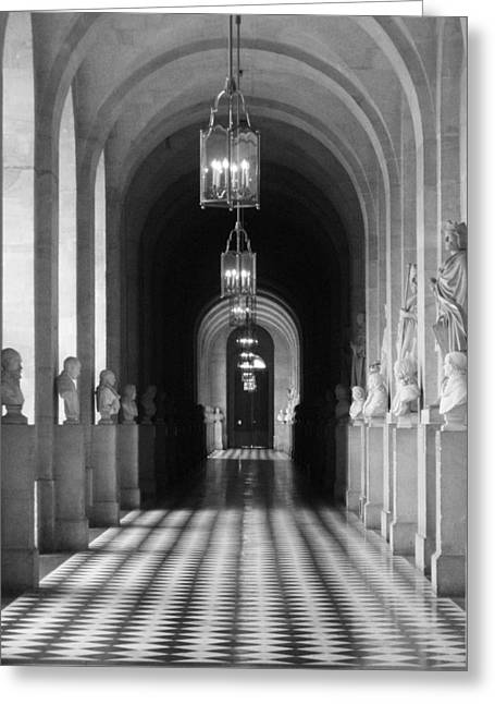 Greeting Card featuring the photograph Hall Of Sculpture by Meaghan Troup