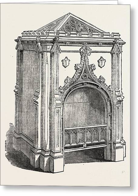 Hall Stove, Jermyn Street, London, Uk. This Greeting Card by Pierce, English, 19th Century