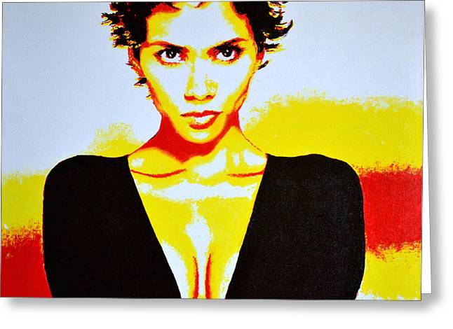 Halle Berry 2 Greeting Card