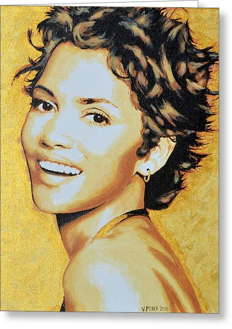 Halle Berry Greeting Card