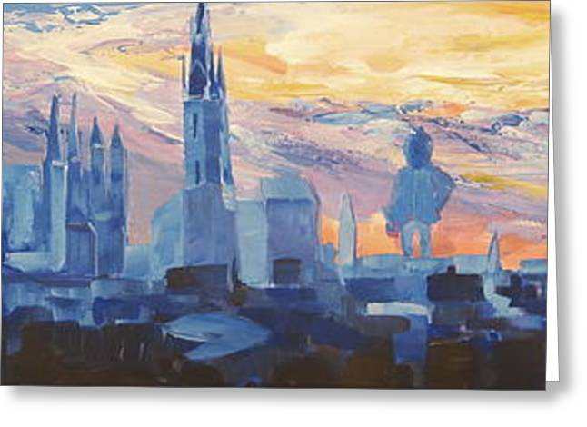 Halle Saale Germany Skyline Greeting Card by M Bleichner