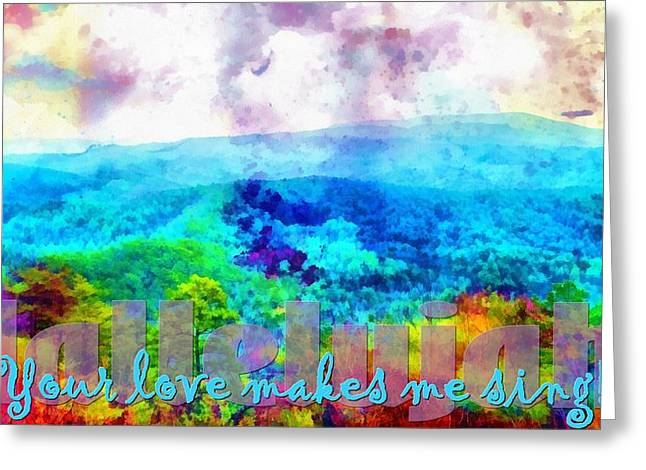 Hallelujah Greeting Card by Michelle Greene Wheeler