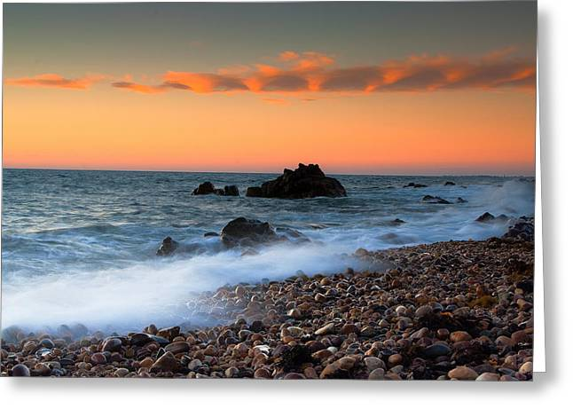 Hallett Cove Sunrise Greeting Card by Jessy Willemse