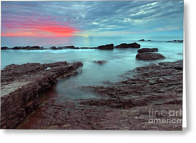 Hallett Cove Sunset Greeting Card by Bill  Robinson