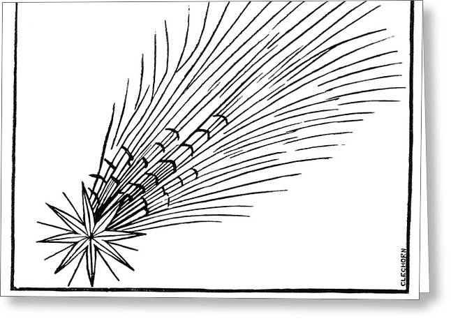 Halley's Comet In 684 Greeting Card by Royal Astronomical Society