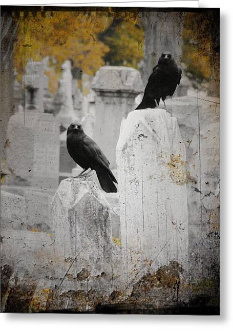 Halloween Is In The Autumn Air Greeting Card by Gothicrow Images