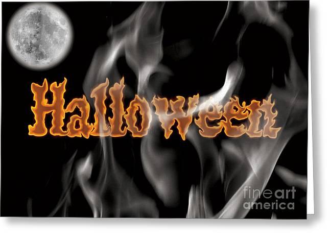 Halloween Greeting Card by Angela Pelfrey