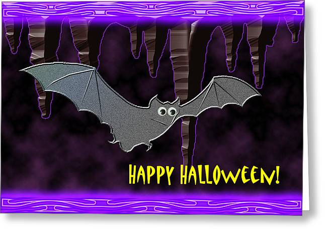 Halloween Bat Greeting Card by Jeanette K