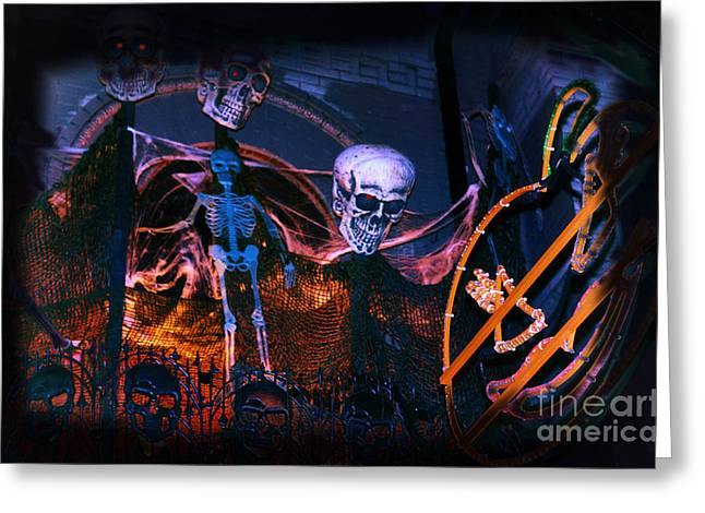 Halloween Ghost Party Greeting Card by Charline Xia
