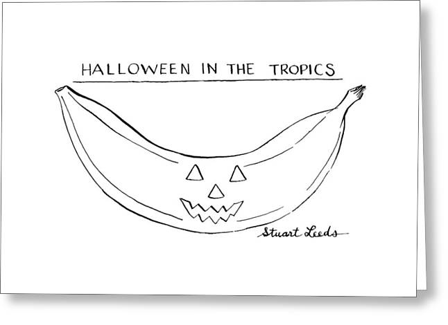 Halloween In The Tropics Greeting Card