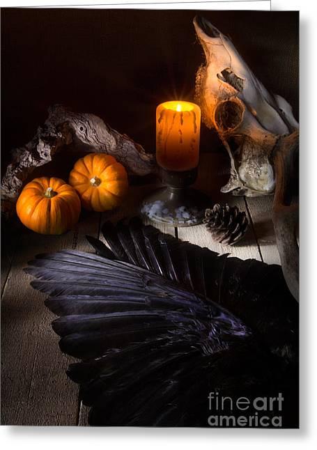 Halloween Is Coming Greeting Card by Ann Garrett