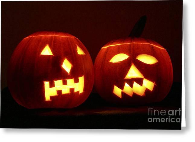 Halloween Jack Olanterns Greeting Card by Bsip