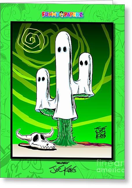 Halloween Greeting Card by Joe King