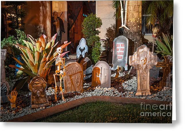 Halloween Greeting Card by Juan Silva