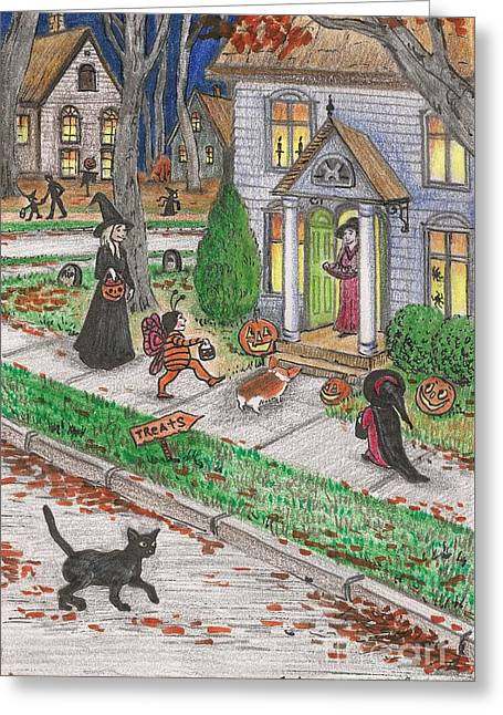 Halloween Memories Greeting Card by Margaryta Yermolayeva