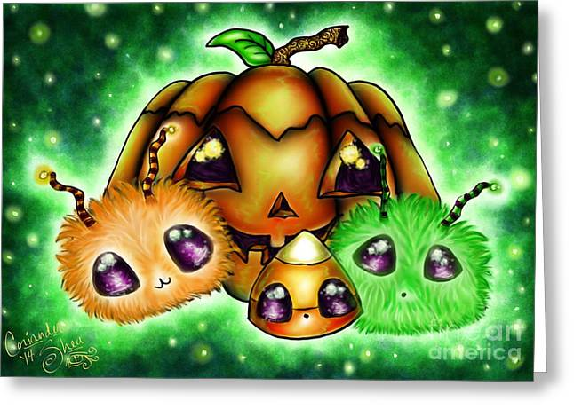 Halloween Menagerie Greeting Card by Coriander  Shea