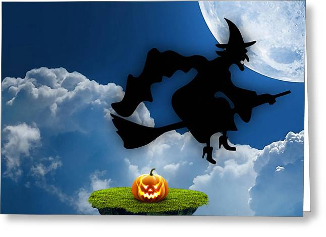 Halloween Night Is Approaching Greeting Card by Marvin Blaine