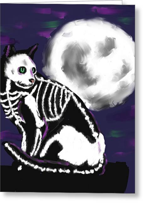 Halloween Night Greeting Card by Stacy Parker