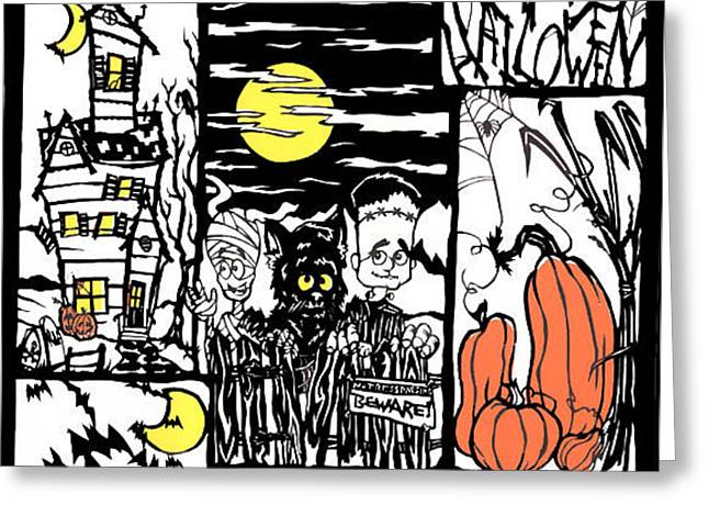 Halloween Papercut1 Greeting Card by Eric Fronapfel