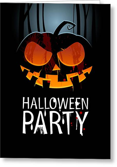 Greeting Card featuring the painting Halloween Party by Gianfranco Weiss