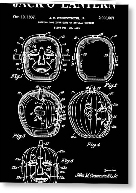 Halloween Pumpkin Greeting Card by Dan Sproul