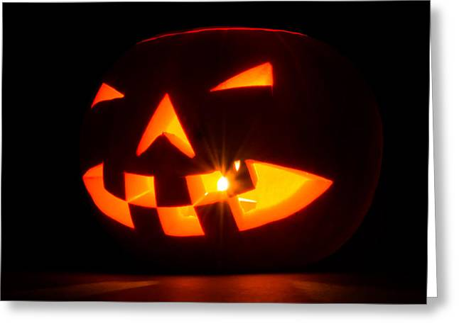 Halloween - Smiling Jack O' Lantern Greeting Card