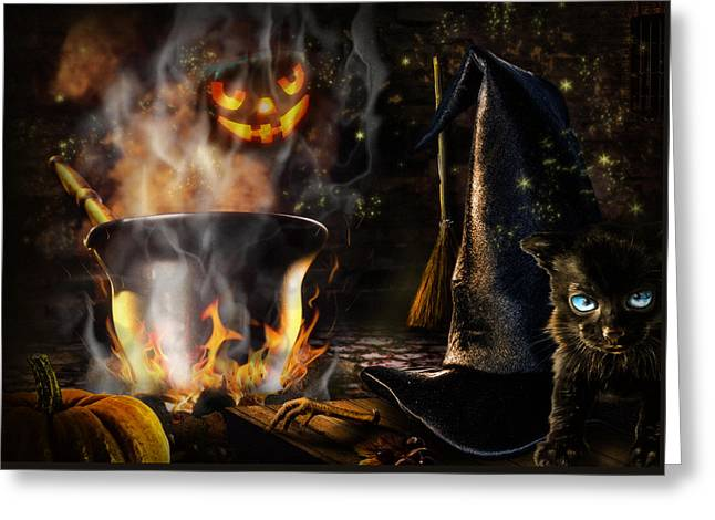 Halloween' Spirit Greeting Card
