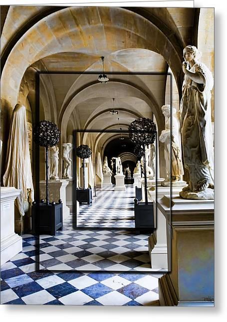 Halls Of Versailles Paris Greeting Card