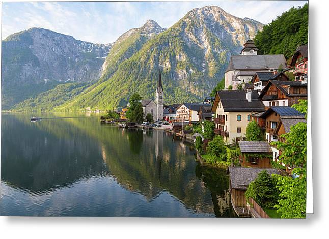 Hallstatt, Salzkammergut, Upper Greeting Card by Peter Adams