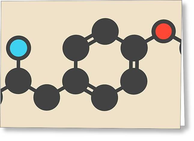 Hallucinogenic Drug Molecule Greeting Card by Molekuul
