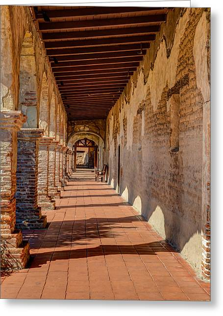 Hallway 1 At San Juan Capistrano Greeting Card