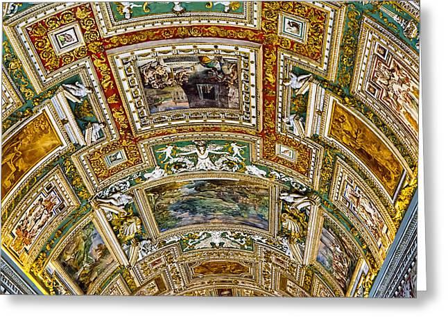 Hallway Art - Vatican Museum Greeting Card by Jon Berghoff