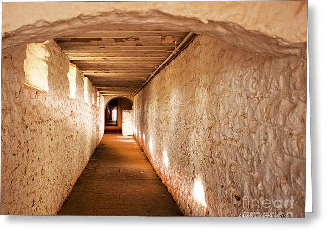 Hallway Of Brick And Stone Monticello Virginia Greeting Card